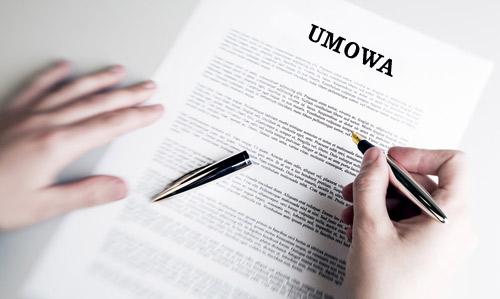 Podpisaliśmy umowę
